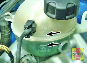 Illustration of step:  The coolant level varies with the temperature of the engine - Car care - step 19