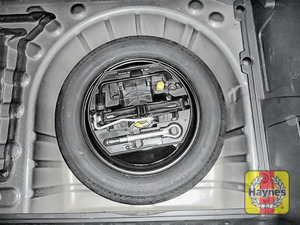 Illustration of step: Finally, check the condition of the spare wheel/emergency tyre repair system - step 16