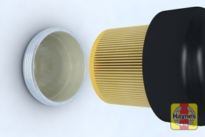 Illustration of step: Loosen the oil filter housing by unscrewing anti clockwise - step 5