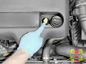Illustration of step: Always replace the dipstick and oil filler cap - step 10