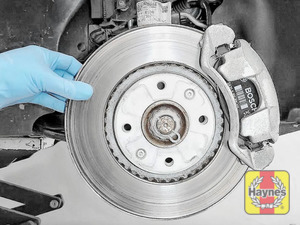 Illustration of step: Check condition of brake discs - step 4