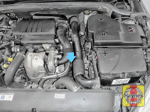 Illustration of step: The oil filter is down here - step 1