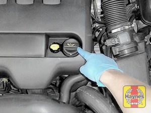 Illustration of step: Always replace the cap and dipstick securely - step 6