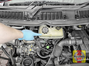 Illustration of step: Coolant reservoir is located here - step 1