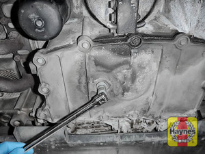 Illustration of step: Using a 10mm Allen key socket, carefully remove the sump plug and fully drain the oil - step 3