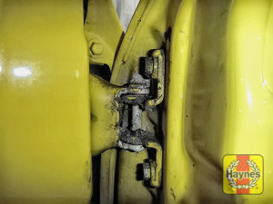 Illustration of step: Why not lubricate your hinges? Using a can of lithium grease, spray a very small amount onto each door hinge and don't forget the bonnet catch - step 4