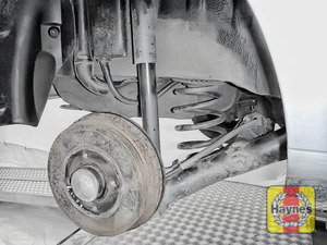 Illustration of step: Take a good look around brake system and the suspension arm, checking for any leaks - step 11