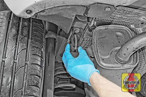 Illustration of step: Check rubber exhaust mountings for general condition - step 12
