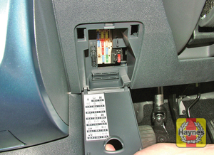 Illustration of step: Open the driver's side fascia panel to access the main fusebox - step 1