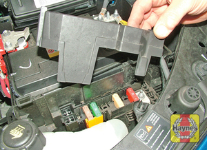 Illustration of step: Additional fuses are located next to the battery in the engine compartment - step 2