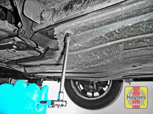 Illustration of step: You will need to remove car's undertray / open the sump access cover - step 1