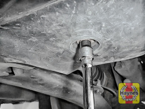 Illustration of step: You may need to remove the sump cover - use a 10mm socket - step 2