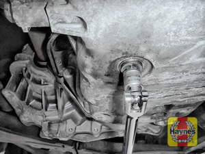 Illustration of step: Use an 8mm Square socket to carefully remove the sump plug and fully drain the oil - step 5