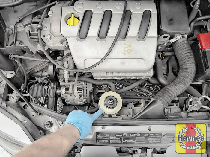 Renault Megane Scenic 1999 2002 14 Checking Steering Fluid