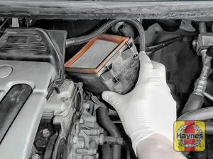 Illustration of step: Carefully lift away the air filter box for inspection - step 5