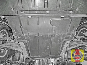 Illustration of step: You will need to remove the undertray to access the sump  - step 1