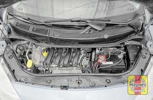 Illustration of step: Find and then release the safety latch and open the bonnet - step 2