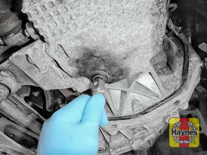 Illustration of step: Use an 8mm SQ socket to carefully remove the sump plug and fully drain the oil - step 5