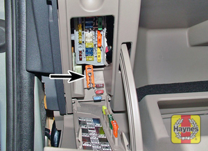 Illustration of step: Open the glovebox, unclip the panel, and use the tweezers provided … - step 1