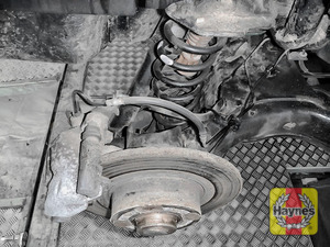 Illustration of step: Take a good look around brake system and the suspension arm, check for any leaks - step 12