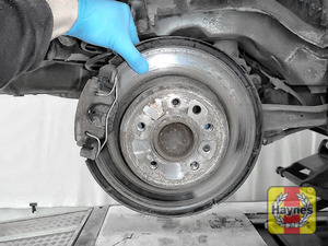 Illustration of step: Check condition of the rear brake discs - step 10