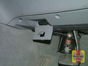 Illustration of step: Unclip the cover to access the diagnostic socket under the driver's side of the fascia - step 2