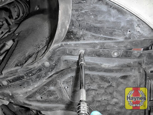 Illustration of step: You will need to remove the sump cover / undertray - step 1