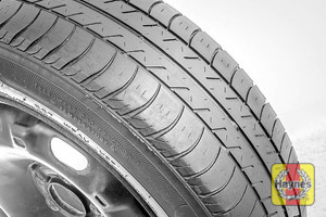 Illustration of step: Before refitting the tyres, take a look at the tyre tread, there is a UK legal requirement to have a minimum of 1 - step 12