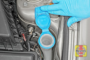 Illustration of step: Open the filler cap - step 2