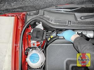 Illustration of step: Locate the brake fluid reservoir - step 2