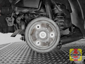 Illustration of step: This model has rear drum brakes - step 9