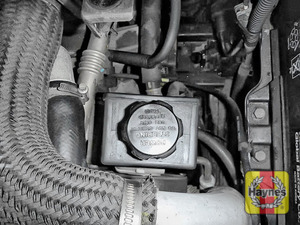 Illustration of step: When finished, replace cap securely - replace the engine cover - step 4