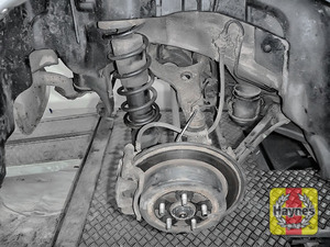 Illustration of step: Take a good look around the brake system and the suspension arm, checking for any leaks - step 11