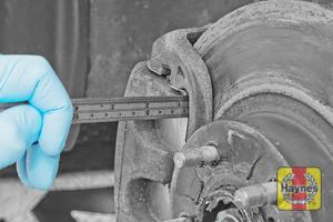 Illustration of step: Measure brake pad wear thickness - step 8