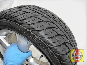 Illustration of step: Before refitting the tyres, take a look at the tyre tread, there is a UK legal requirement to have a minimum of 1 - step 10