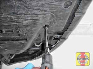 Illustration of step: You will need to remove the sump cover / undertray to access the engine sump - step 1