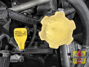 Illustration of step: Don't forget to replace the dipstick and oil filler cap securely - step 9