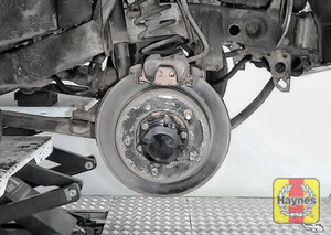Illustration of step: Check condition of brake discs - step 13
