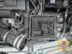 Illustration of step: Check air filter box for debris - step 2