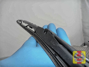 Illustration of step: Check condition of the wiper blades, any cracking or fraying indicates replacement is required - step 6