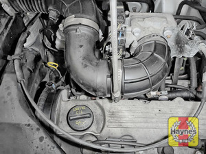 Illustration of step: Undo the second circular clip on the air intake - again, use a screwdriver - step 4