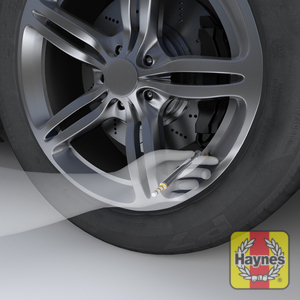 Illustration of step: To check the tyre pressures, you can use a pencil type gauge, it is often the cheapest to purchase and rarely goes wrong - step 1