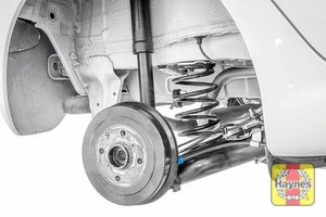 Illustration of step: Take a good look around the brake system and the suspension arm, checking for any leaks - step 10