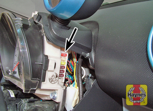 Illustration of step: Access the fuses each side of the steering column - step 2
