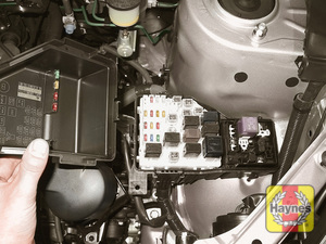 Illustration of step: Additional fuses are located on the left-hand side of the engine compartment - step 2