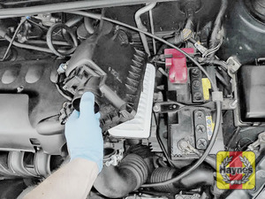 Illustration of step: Carefully lift away the air filter box - step 5