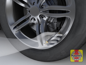 Illustration of step: You can use a pencil type gauge to check the tyre pressures, it is often the cheapest to purchase and rarely goes wrong - step 1