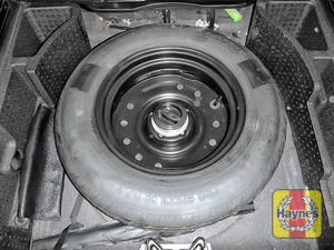 Illustration of step: Finally, check the condition of the spare wheel / emergency tyre repair system - step 12