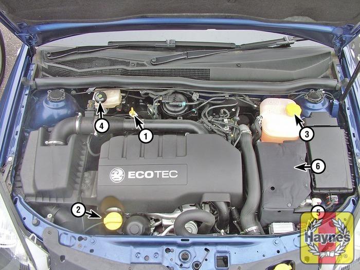 vauxhall astra 2004 2008 1 3 cdti fluid level checks haynes rh haynes com Opel Astra 2.0 DTI Opel Astra 1.6 Engine