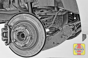 Illustration of step: Take a good look around the brake system and the suspension arm, checking for any leaks - step 12